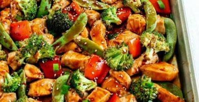 Pollo con Brocoli y Zanahoria