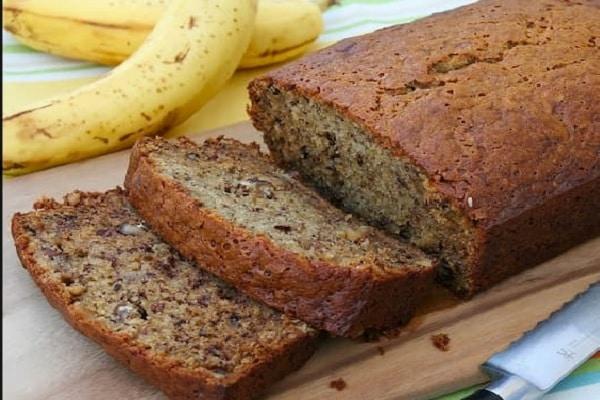 receta de pan de banano