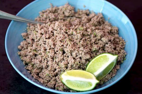 como hacer Salpicón de Carne Molida