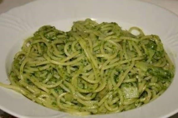 receta de espagueti verde